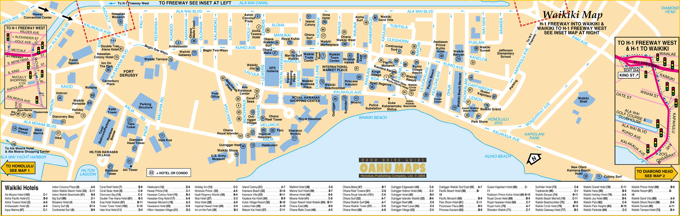 Waikiki Hawaii Spring Break 2017 Destinations Break Now – Tourist Map Of Nashville