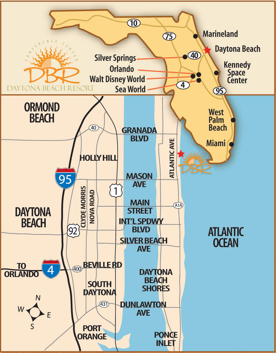 Daytona Beach Florida Maps